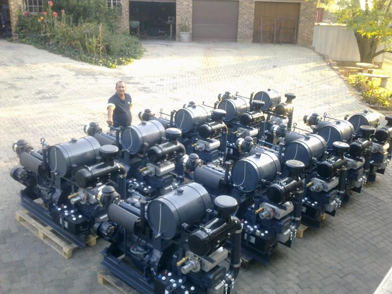 Diesel Electric Dry Bulk Blower Set Blower Pack